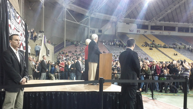 Newt Gingrich with wife